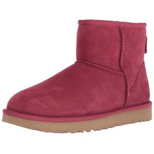 New UGG Women's Burgundy Mini Boot 8